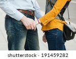 young couple in love walking in ...   Shutterstock . vector #191459282