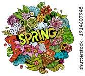 spring hand drawn cartoon...   Shutterstock .eps vector #1914607945
