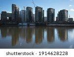 Nine Elms And River Thames...