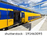 intercity train in the... | Shutterstock . vector #191463095