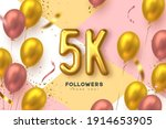 five thousand followers banner. ...   Shutterstock .eps vector #1914653905