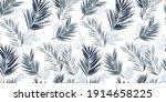 palm leaves vector seamless... | Shutterstock .eps vector #1914658225