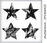 grunge stars  | Shutterstock .eps vector #191466422