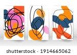 scribble design. modern...   Shutterstock .eps vector #1914665062