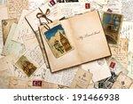 old postcards  letters  mails... | Shutterstock . vector #191466938