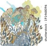 wildflower vector background   Shutterstock .eps vector #191468096