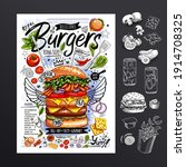 food poster  fast food ... | Shutterstock .eps vector #1914708325