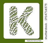 stencil with the letter k made... | Shutterstock .eps vector #1914716575