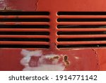 Closeup Of Rusty Aged Red Car...