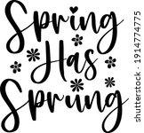 spring has sprung  vector file   Shutterstock .eps vector #1914774775