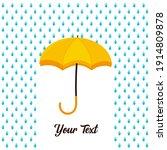 Rain Drop On Opened Umbrella....