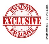 exclusive grunge rubber stamp...   Shutterstock .eps vector #191481386