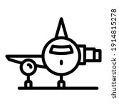 airplane icon. outline airplane ...
