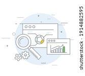 online marketing and analytics... | Shutterstock .eps vector #1914882595