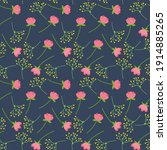 floral seamless pattern with... | Shutterstock .eps vector #1914885265