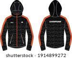 long sleeve bomber hoodie... | Shutterstock .eps vector #1914899272