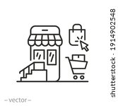 online shopping icon  shop in... | Shutterstock .eps vector #1914902548