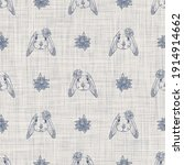 seamless french farmhouse bunny ... | Shutterstock . vector #1914914662