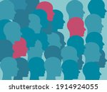herd immunity concept...   Shutterstock .eps vector #1914924055