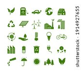 cartoon ecology signs green... | Shutterstock . vector #1914927655