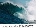 Huge Wave Hits Hard On Shallow...