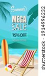 summer mega sale 75  off banner ...   Shutterstock .eps vector #1914996232