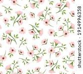 vector seamless spring floral... | Shutterstock .eps vector #1914996358
