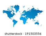 world map vector illustration | Shutterstock .eps vector #191503556