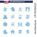 set of 16 vector blues on 4th... | Shutterstock .eps vector #1915056622
