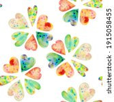 Seamless Pattern Of Cute Hand...