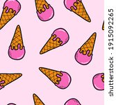 cute seamless pattern with hand ... | Shutterstock .eps vector #1915092265