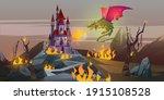 fairy tale fire breathing... | Shutterstock .eps vector #1915108528