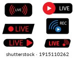 live icons on black background. ...