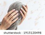 female hand manicure close up... | Shutterstock . vector #1915120498