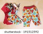 handmade trousers for baby boy | Shutterstock . vector #191512592