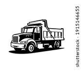 Silhouette Dump Truck Vector...