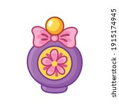 beautiful bottle of perfume... | Shutterstock .eps vector #1915174945