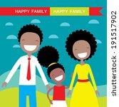 happy family members  parents... | Shutterstock .eps vector #191517902