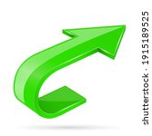 green 3d shiny arrow. 3d...   Shutterstock . vector #1915189525