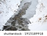 Frozen Stream  Water Can Be...