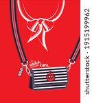striped marine cross body bag...   Shutterstock .eps vector #1915199962