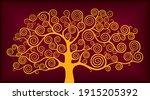 Golden Tree Decorative Wood...