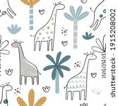 vector hand drawn colored... | Shutterstock .eps vector #1915208002
