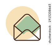 open envelope vector icon. e...