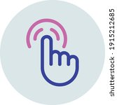 touch screen icons for websites ... | Shutterstock .eps vector #1915212685
