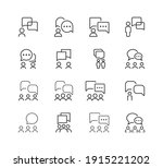 communication line icon set.... | Shutterstock .eps vector #1915221202