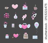 valentine's day elements. set... | Shutterstock .eps vector #1915221475