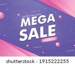 mega sale poster or banner...   Shutterstock .eps vector #1915222255