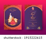 front and back view of indian... | Shutterstock .eps vector #1915222615