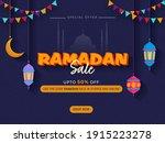 ramadan sale poster design with ... | Shutterstock .eps vector #1915223278